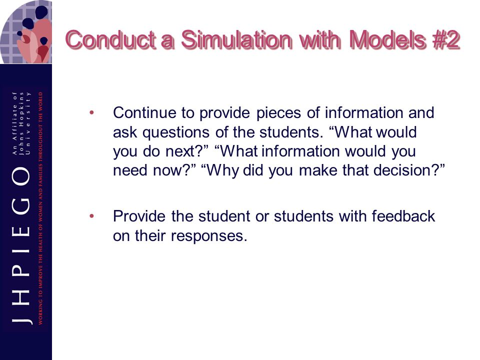 Conduct a Simulation with Models #2