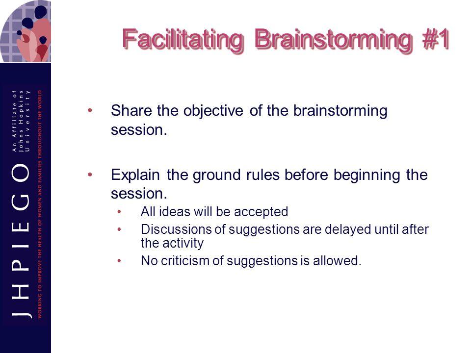 Facilitating Brainstorming #1