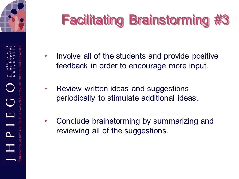 Facilitating Brainstorming #3