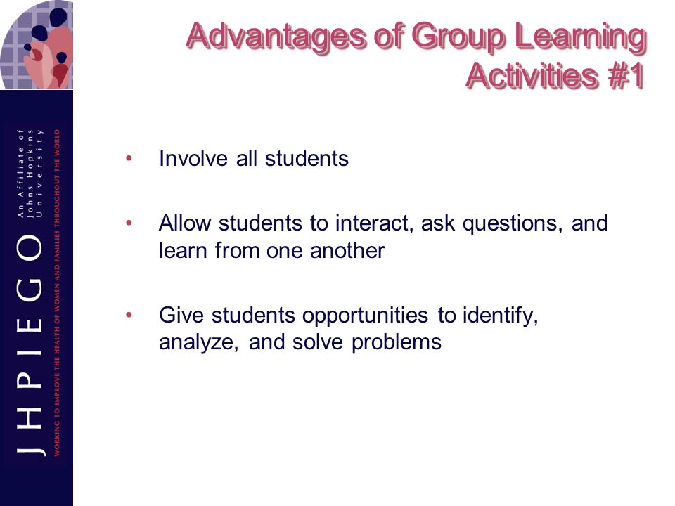 Advantages of Group Learning Activities #1