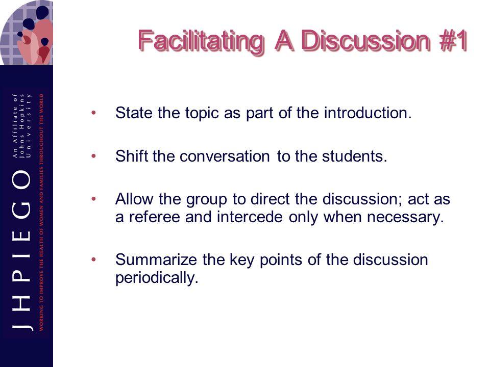 Facilitating A Discussion #1