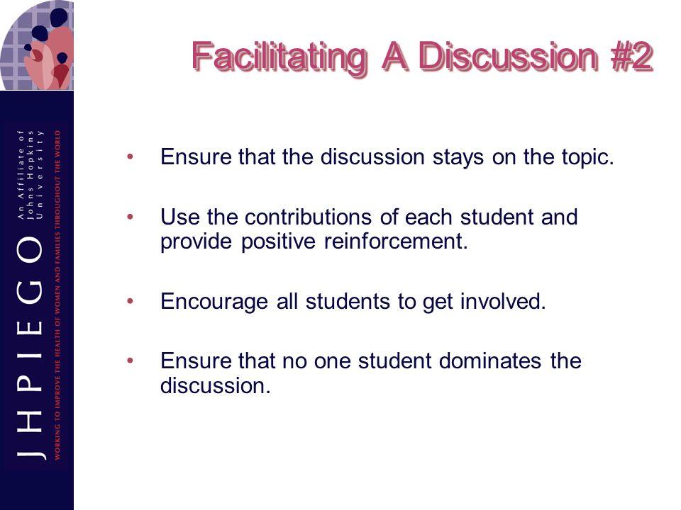 Facilitating A Discussion #2
