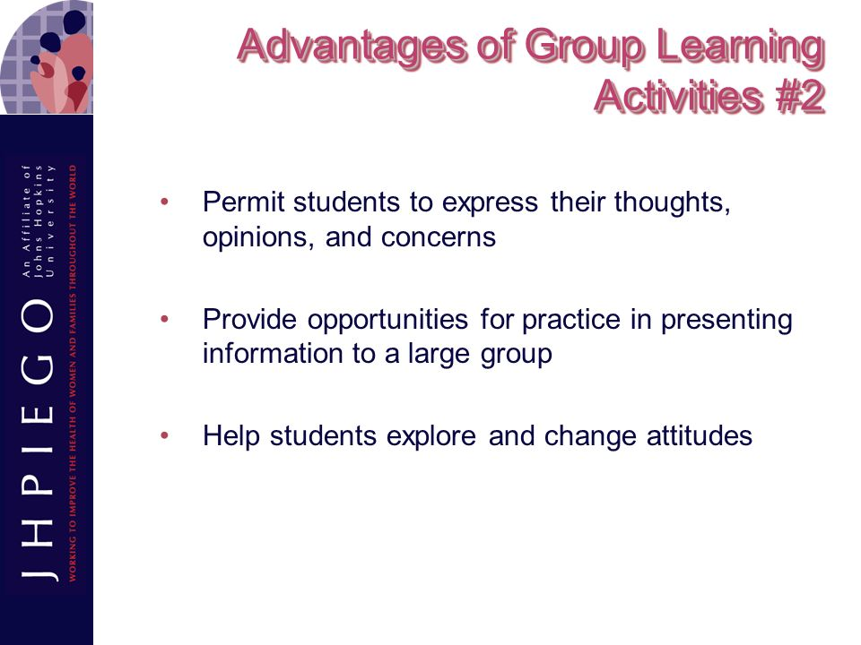 Advantages of Group Learning Activities #2