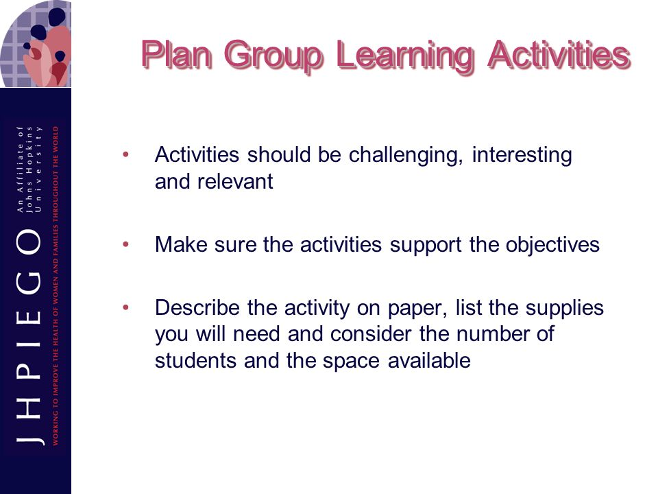 Plan Group Learning Activities