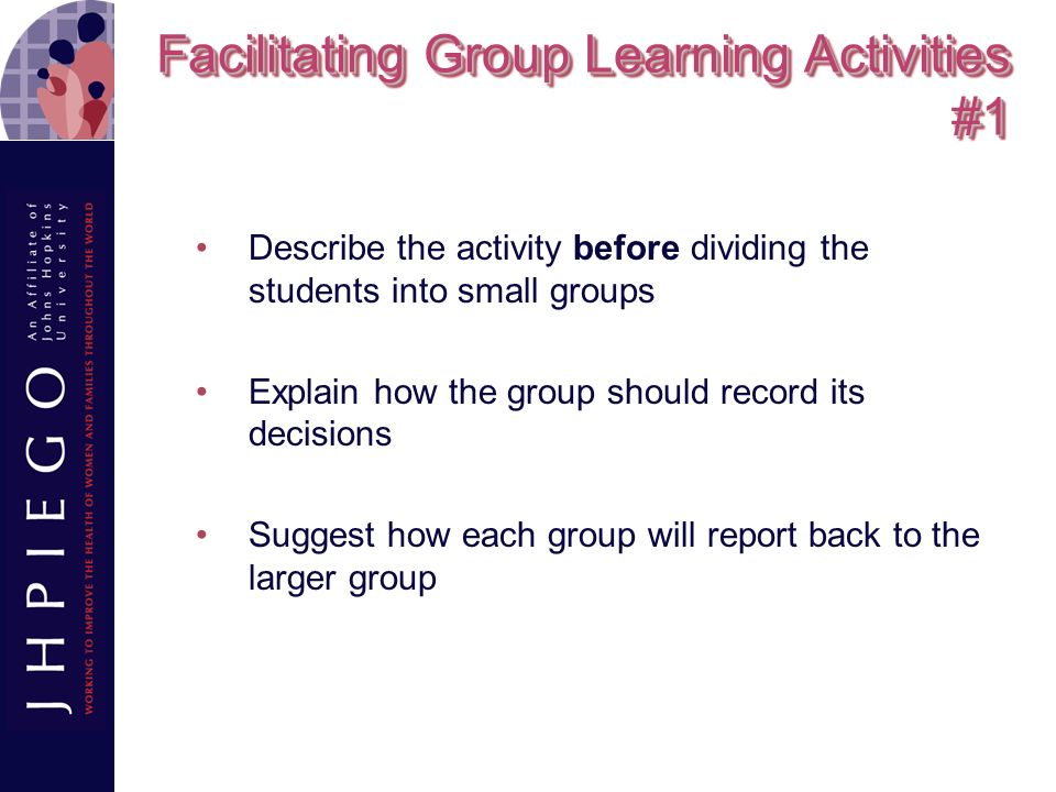 Facilitating Group Learning Activities #1