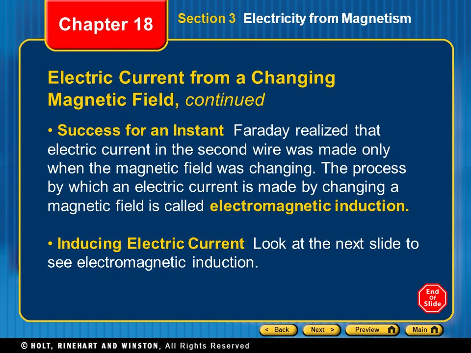 Chapter 18 Preview Section 1 Magnets and Magnetism - ppt ...