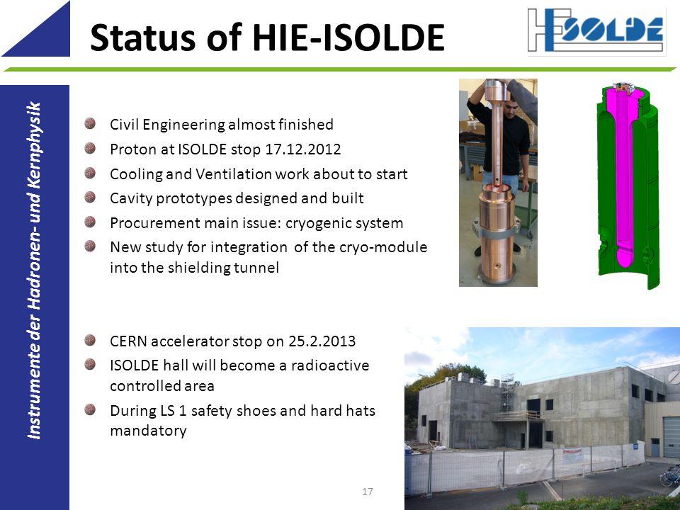 Status of HIE-ISOLDE Instrumente der Hadronen- und Kernphysik