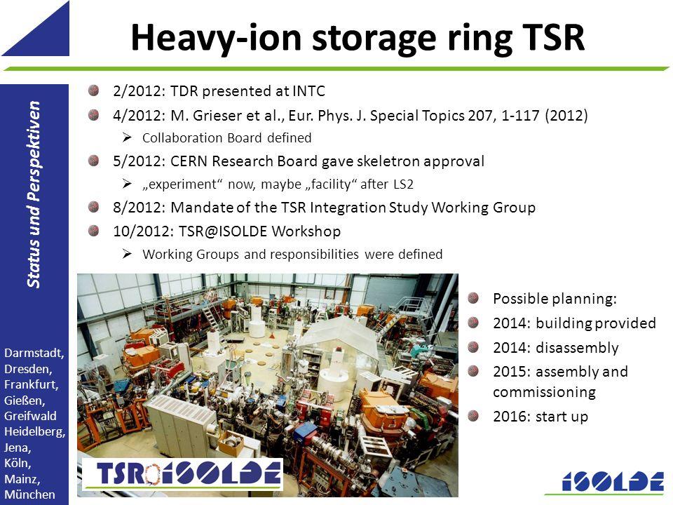 Heavy-ion storage ring TSR