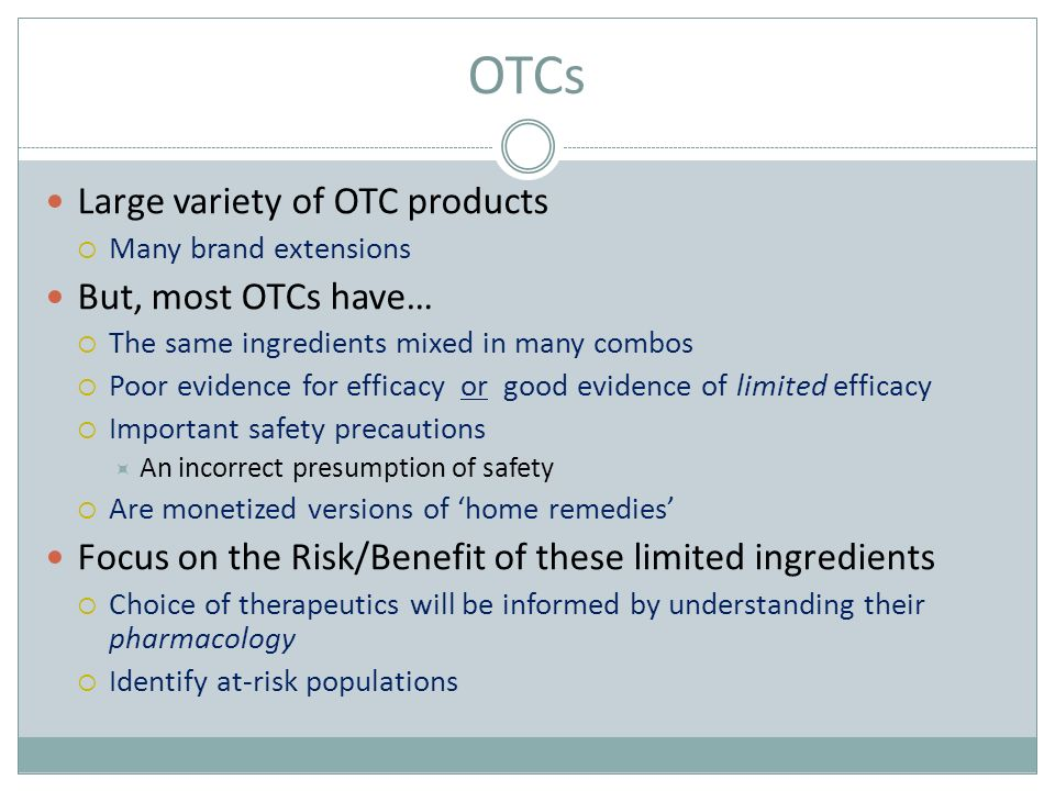 The ABCs of OTCs Over the Counter Products - ppt video