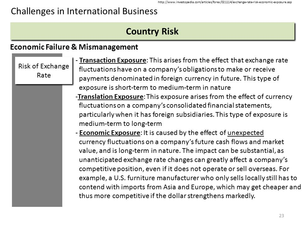 Risks associated with international business transactions economics essay