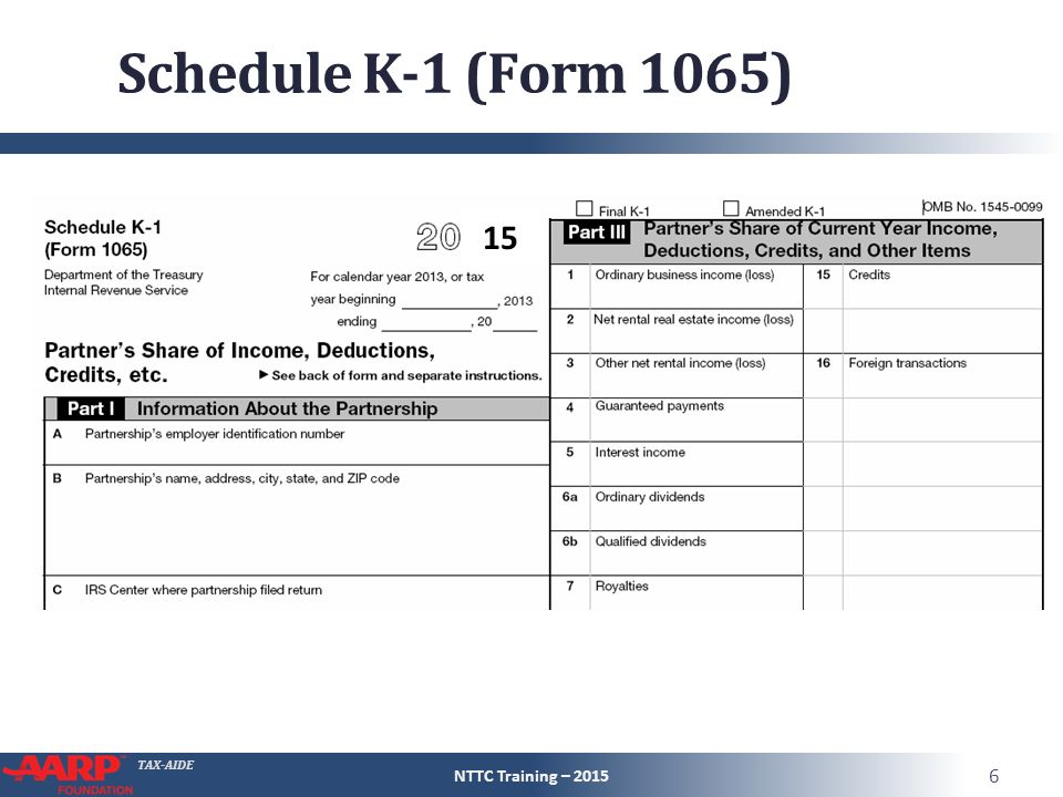 Schedule K-1 Entire Lesson Pub 4491 – Part 3 NTTC Training ...