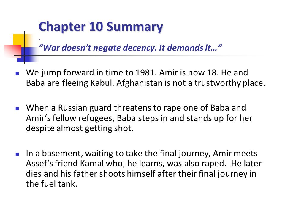 the kite runner chapters ppt the kite runner chapters 10 12 2 chapter