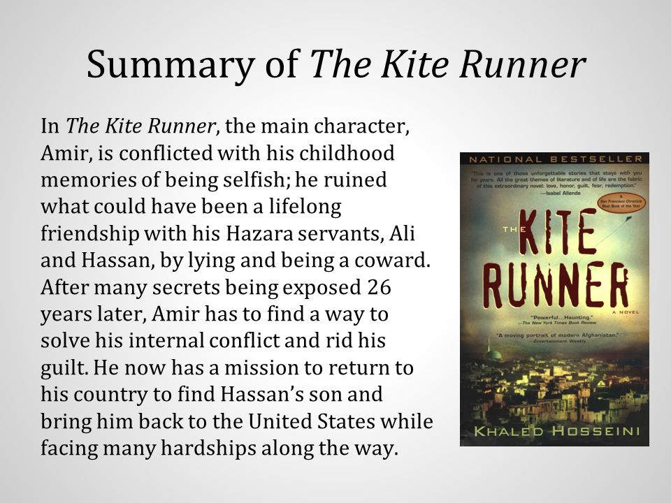 conflict and redemption the kite Conflict protagonist amir is the protagonist, because it is his story - a story that details his childhood in afghanistan and the terrible sin he commits against hassan, a hazara boy who also happens to be his half-brother.