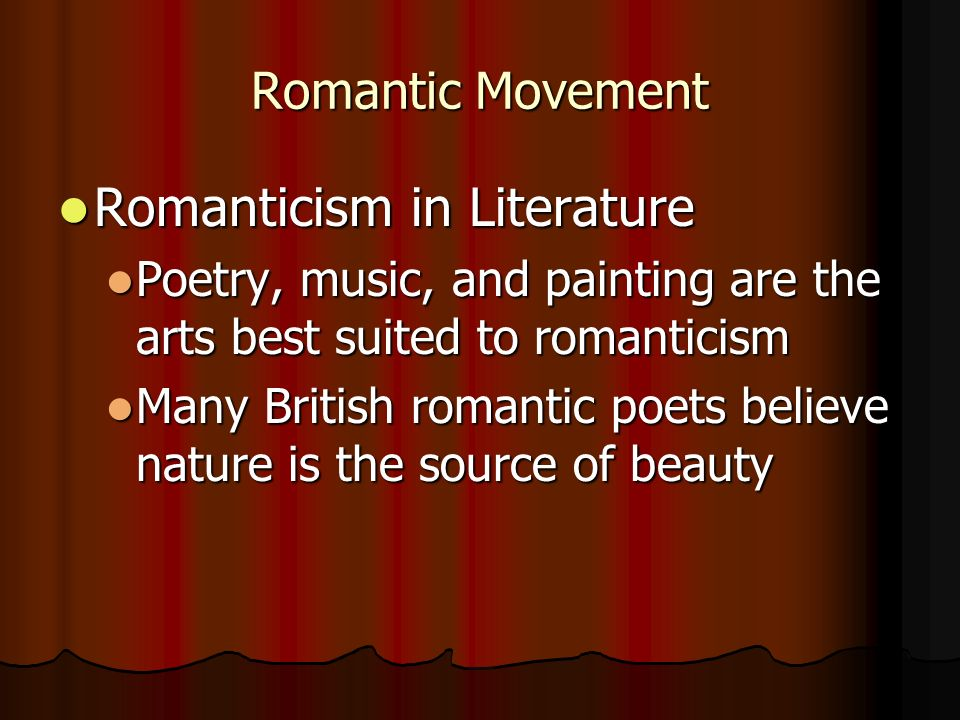 Romanticism In Music And Poetry