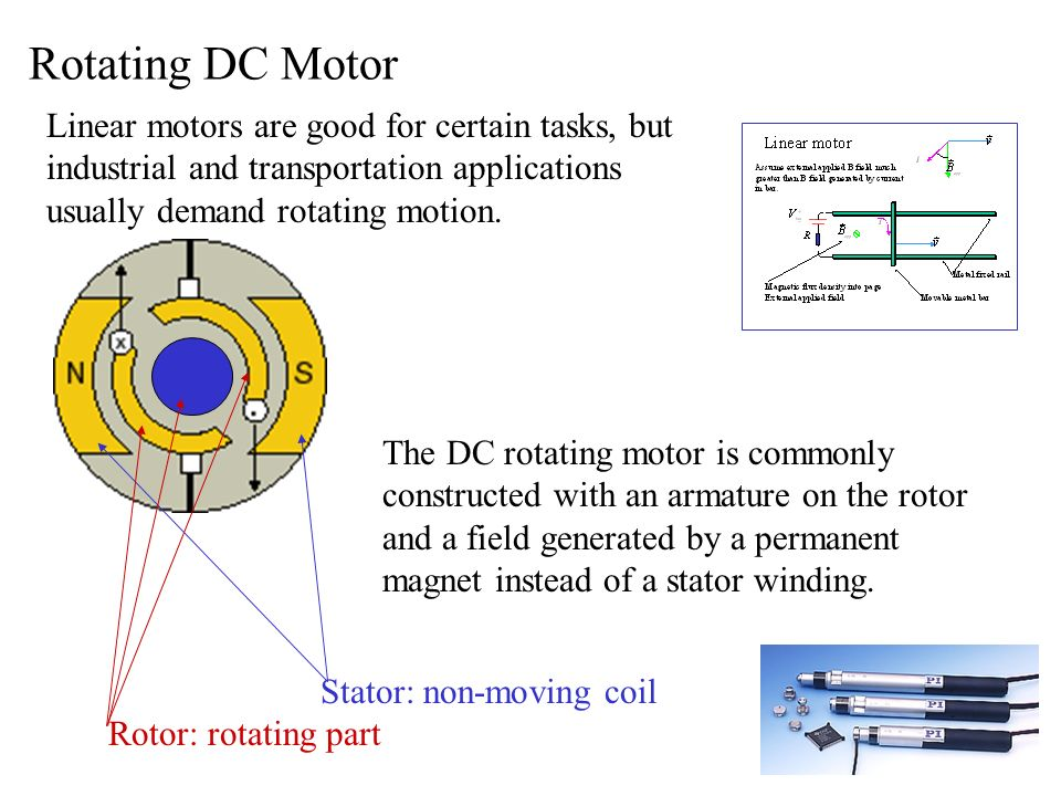 Dc motor stator and rotor for Linear induction motor winding