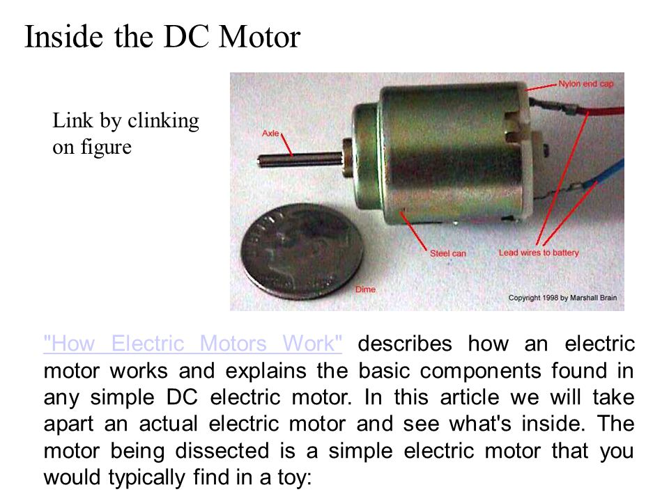 Elec 3105 basic em and power engineering ppt download for How does a simple electric motor work