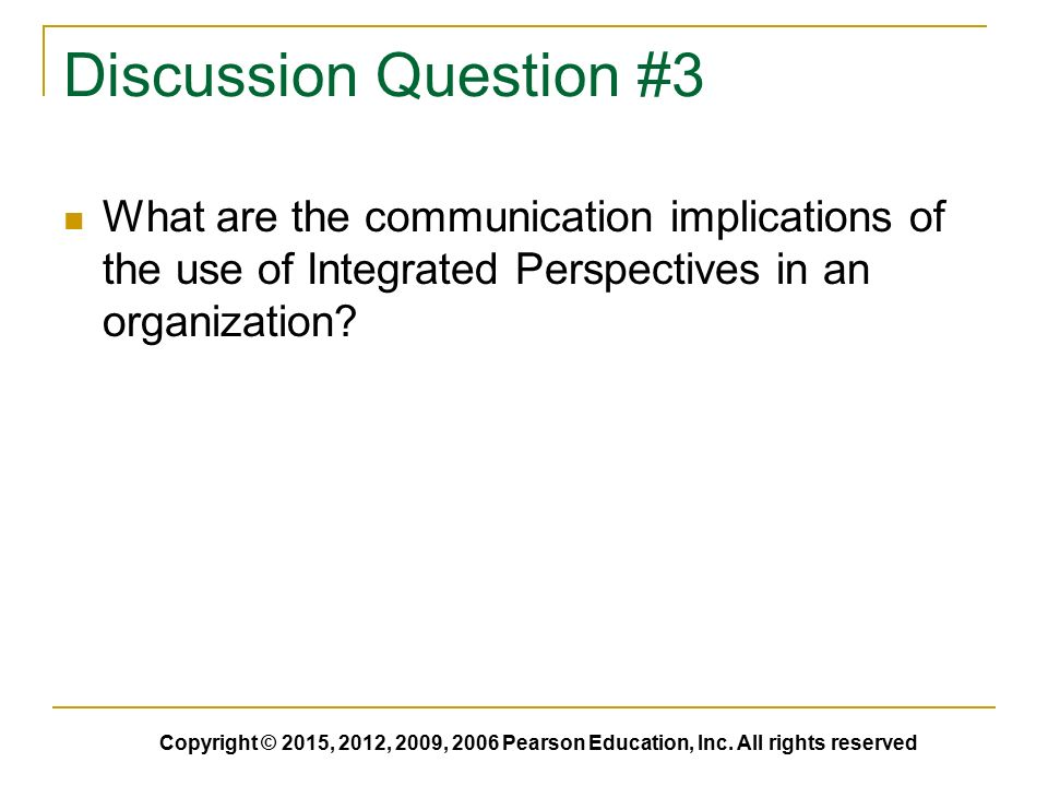 a discussion of communications from different perspectives Communication may therefore be analyzed in at least 50 different ways interest in communication has been stimulated by fragmentation and problems of interdisciplinary outlook have generated a wide range of discussion concerning the ways in which from the commonsense perspective.