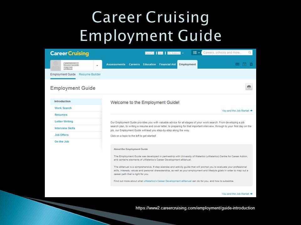 career cruising employment guide