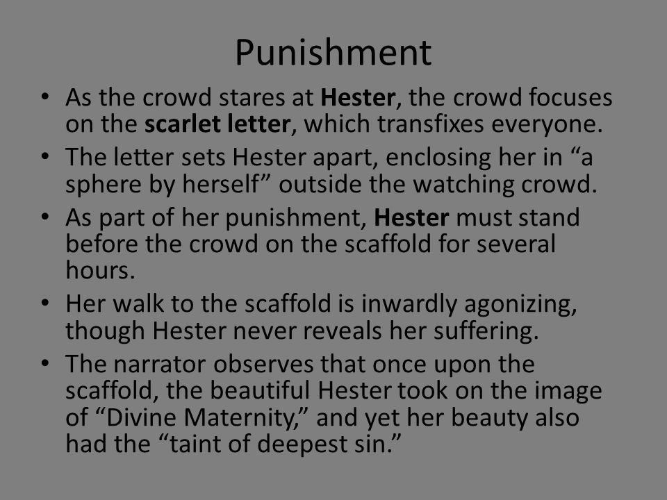 Theme of punishment in scarlet letter
