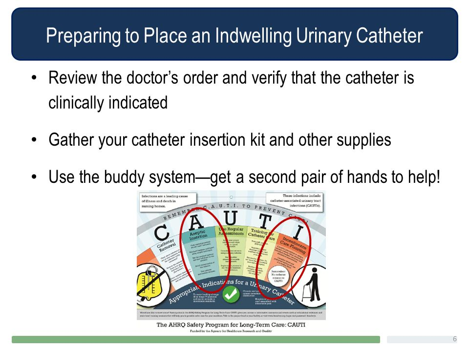 how to change an indwelling catheter