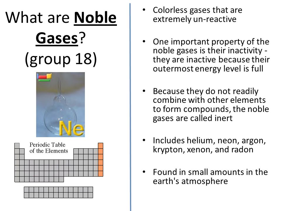 What Are Noble Gases Properties At Room Temperature
