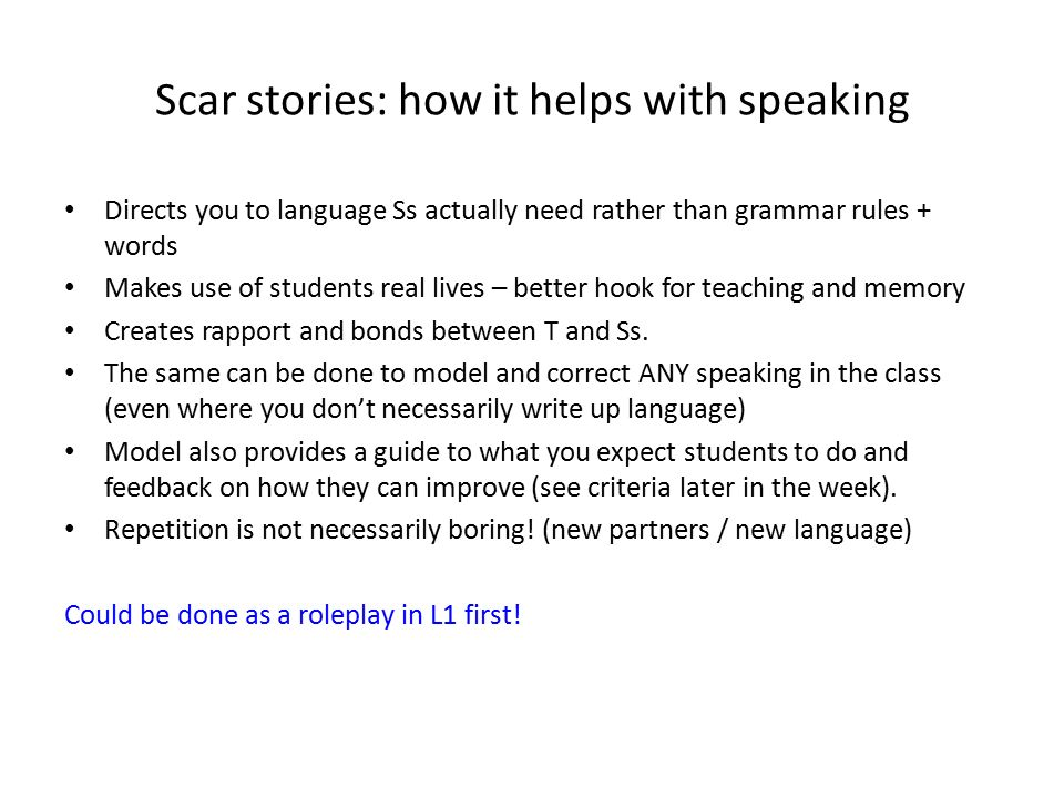 Scar stories: how it helps with speaking