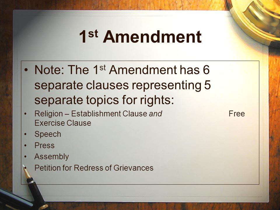 the establishment clause in the first amendment of the united states