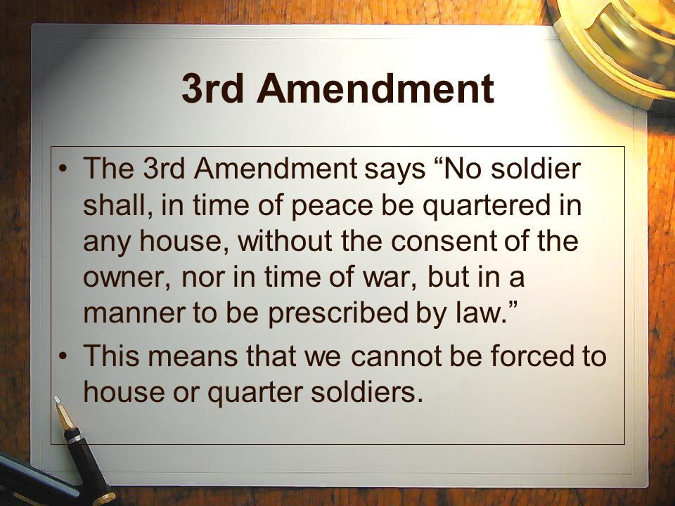 The Bill of Rights The First 10 Amendments to the Constitution - ppt download