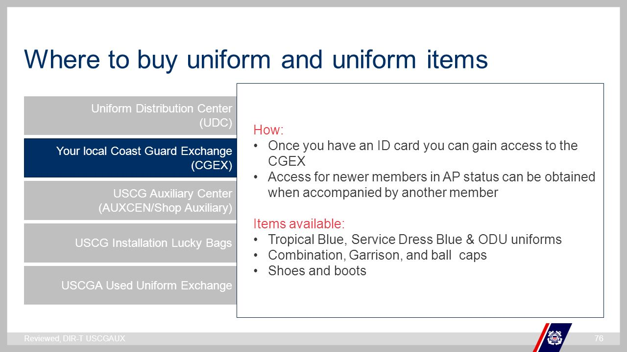 Coast guard auxiliary uniforms ppt video online download 76 where magicingreecefo Image collections