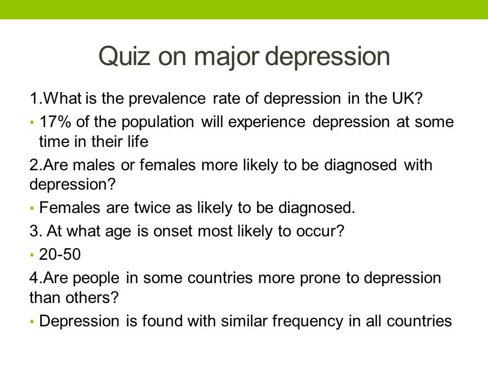 outline of the clinical characteristics of depression What is major depression major depression as reported by the us census bureau population estimates by demographic characteristics in 2005.