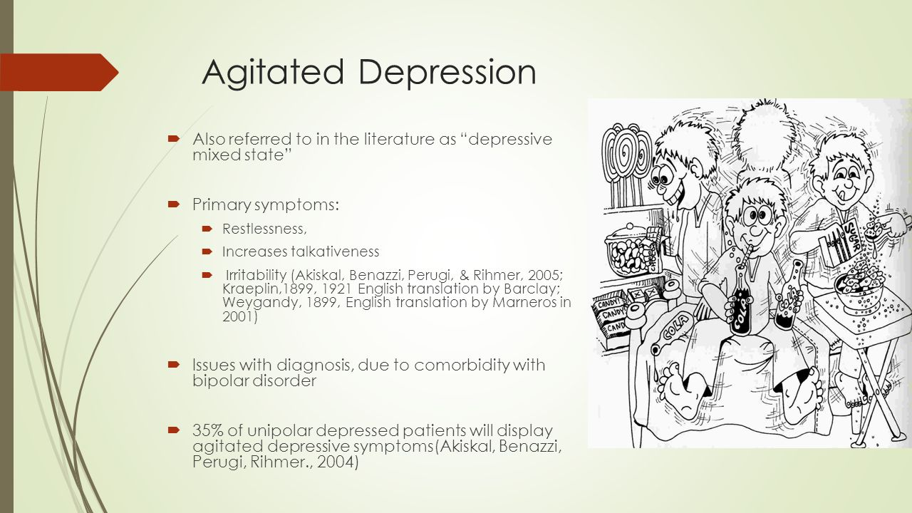 dealing with agitated depression