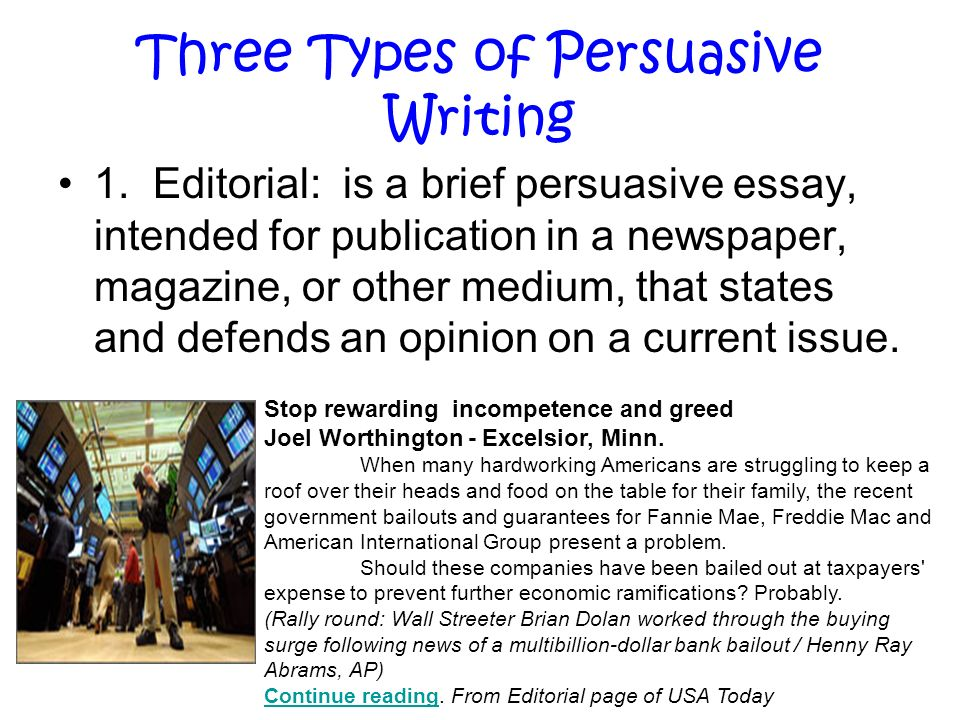 persuasive writing ppt video online  three types of persuasive writing