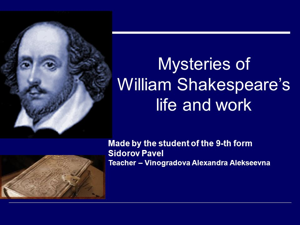 William shakespeare ( ) his life and times ppt download.