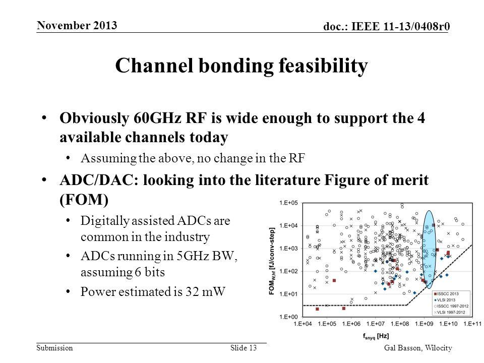 Channel bonding feasibility