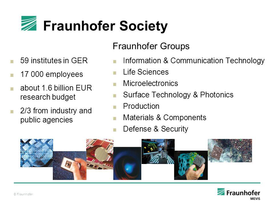 Fraunhofer Society Fraunhofer Groups