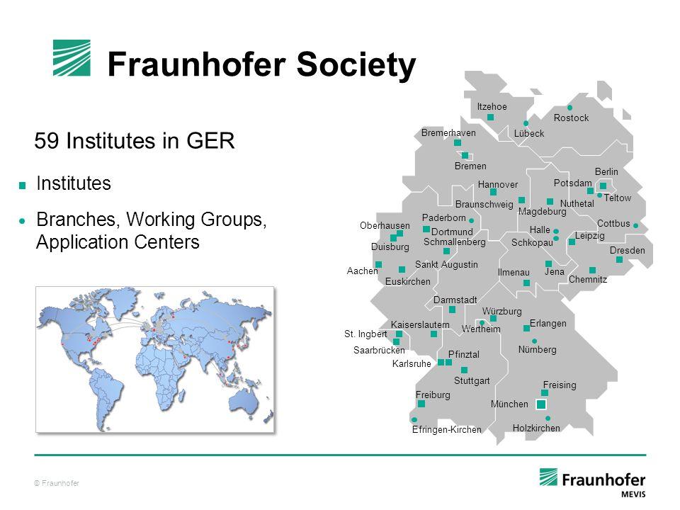 Fraunhofer Society 59 Institutes in GER Institutes