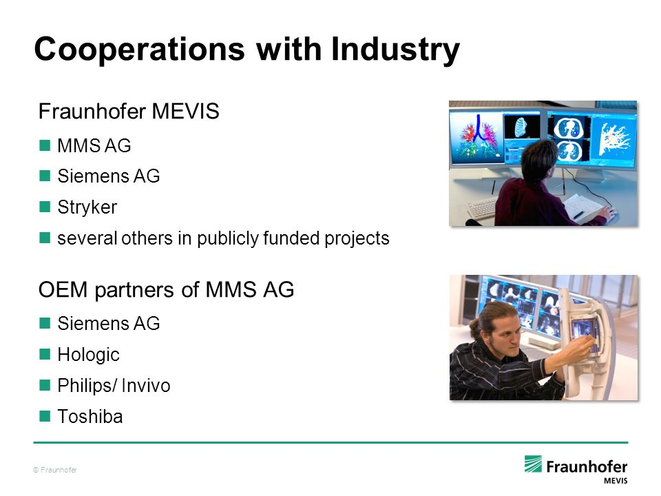 Cooperations with Industry