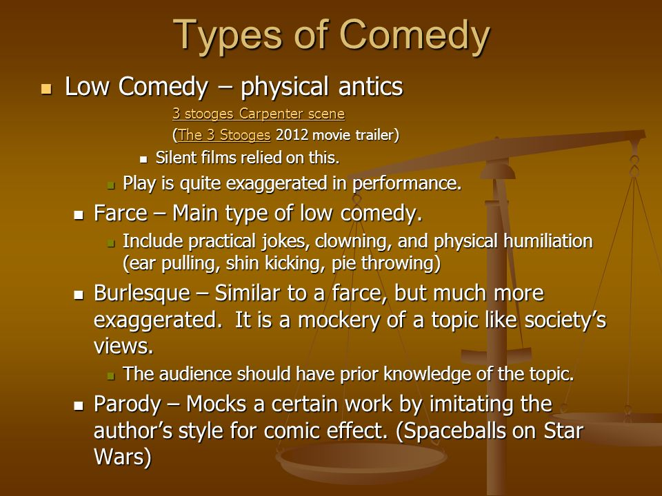 Varieties of drama ppt download for Farcical comedy plays