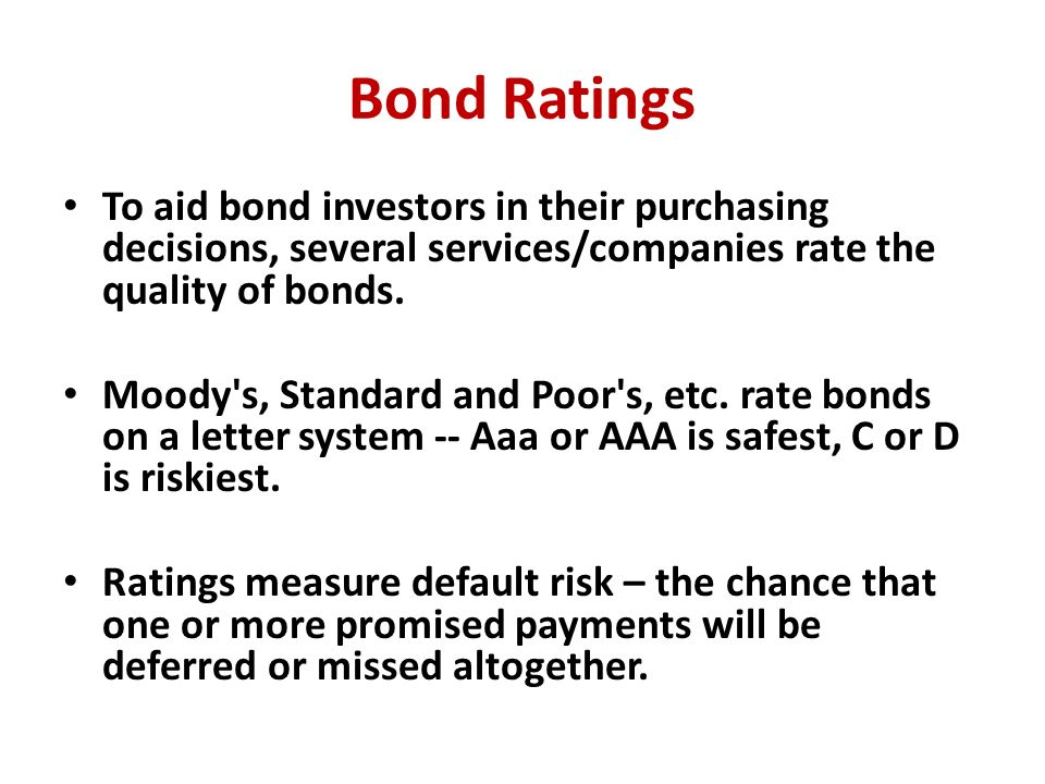 bond investment decisions The balance of stocks and bonds in a portfolio is a risk decision, adds todd  jablonski, chief investment officer of principal global investors.