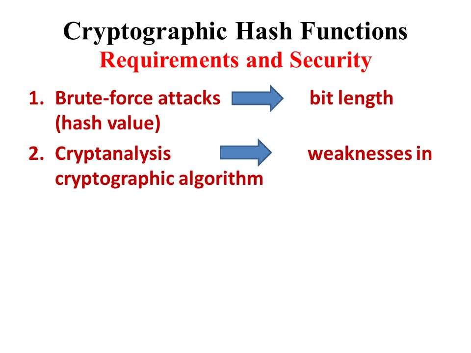 Cryptographically secure hash function