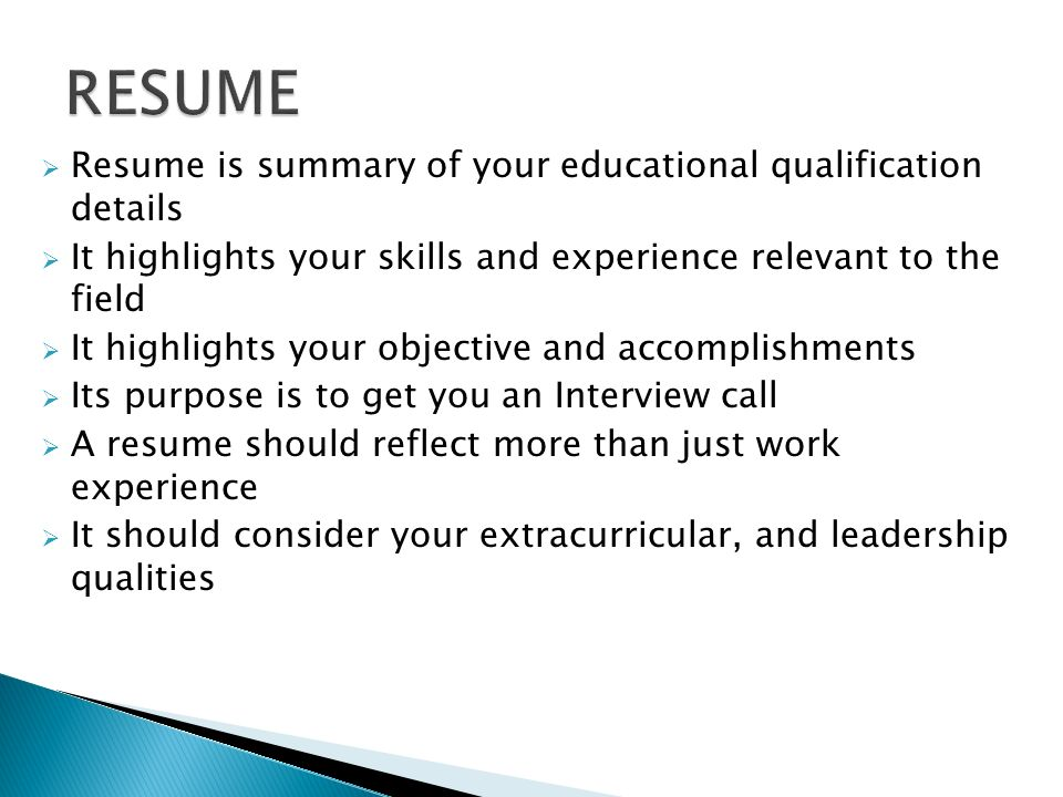 2 resume - What A Resume Should Look Like