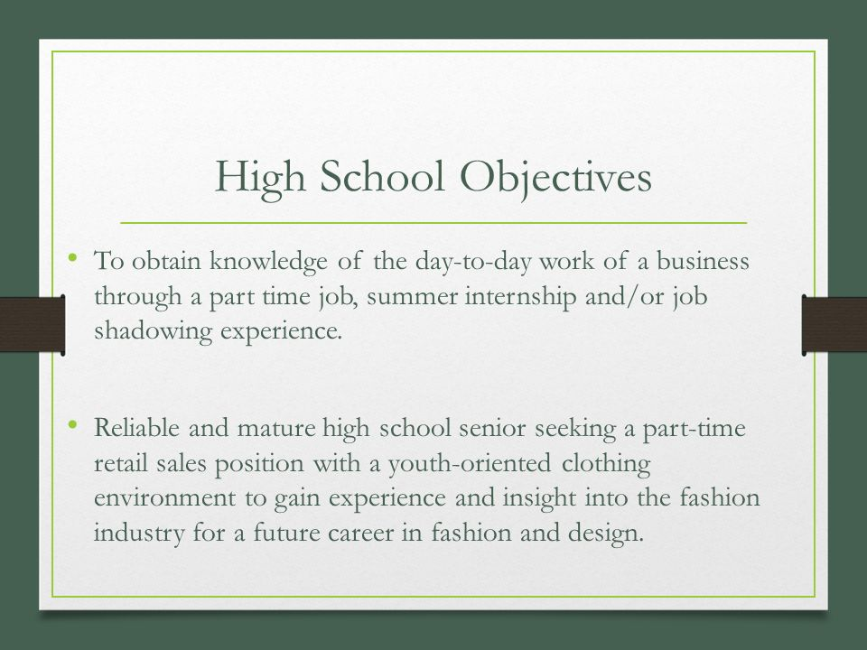 part time jobs available for high school students