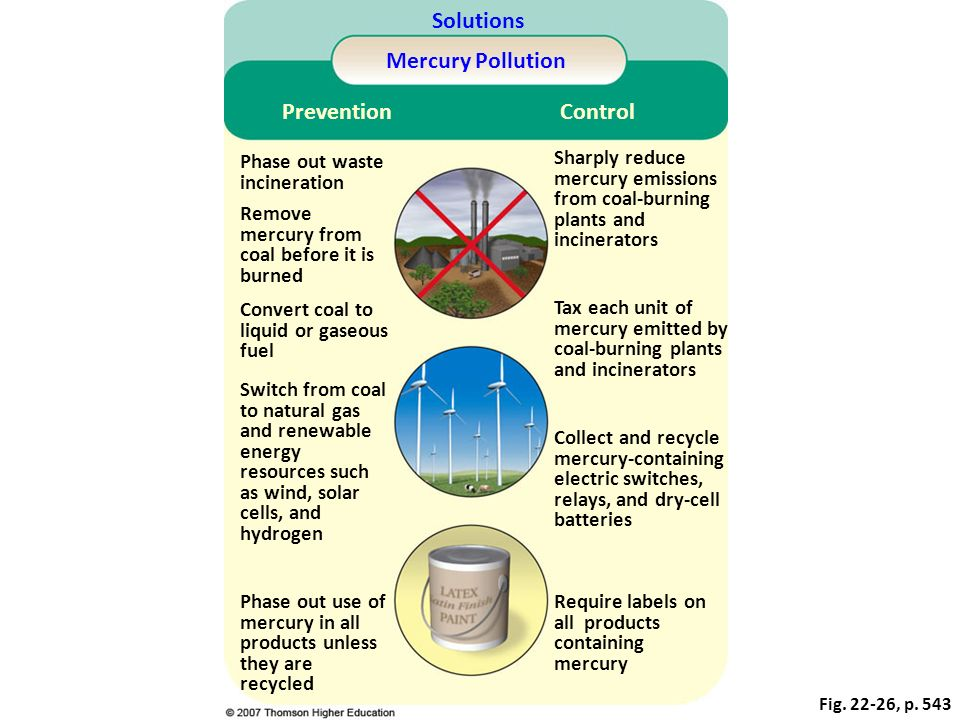 Solutions Mercury Pollution Prevention Control