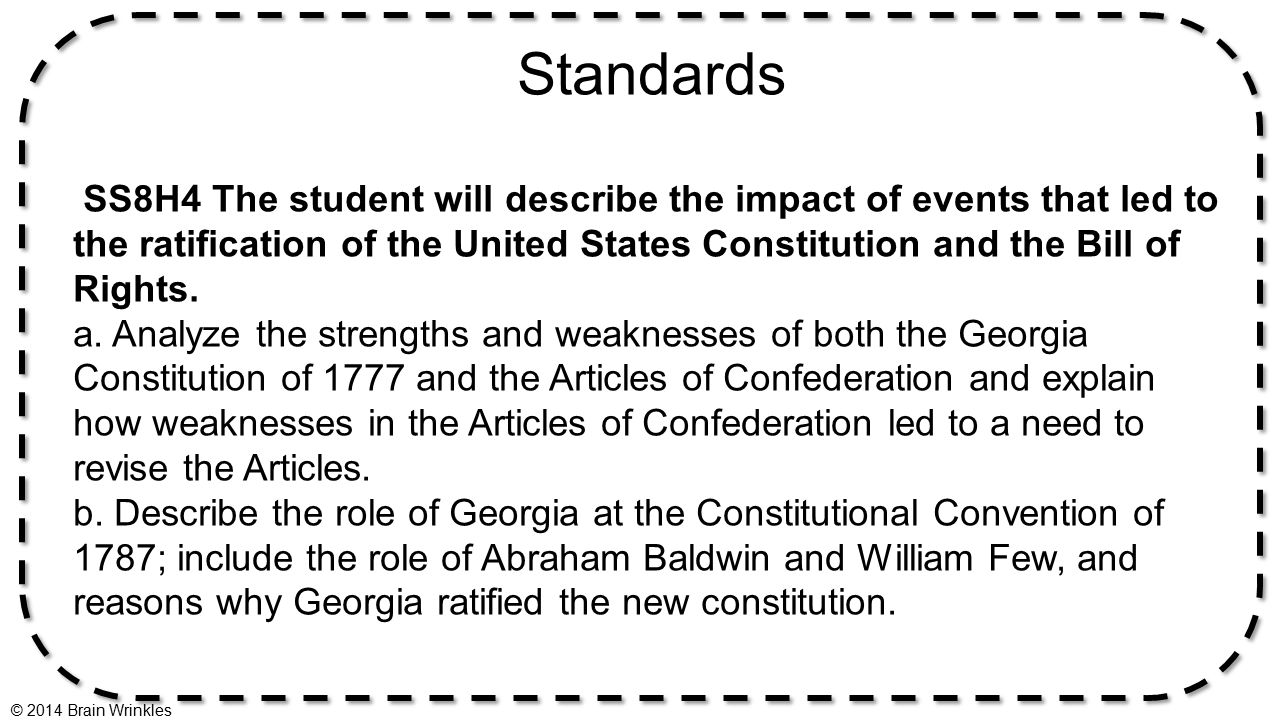 reasons articles confederation led ratification constituti The government was weak under the articles of confederation ratified 1781) influenced the us constitution of the articles of confederation that led to.
