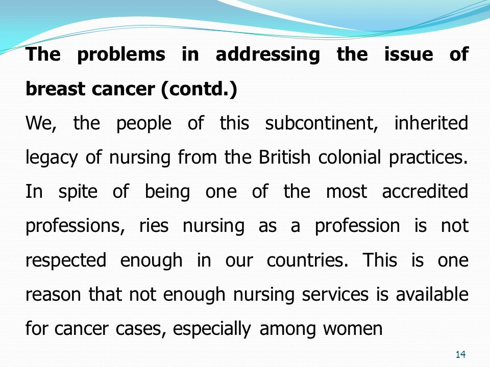 an introduction to the issue of breast cancer Essay on breast cancer breast cancer is the unwanted growth of cells in the breast tissues it is mainly classified in two categories: lobular carcinoma and ductal carcinoma.
