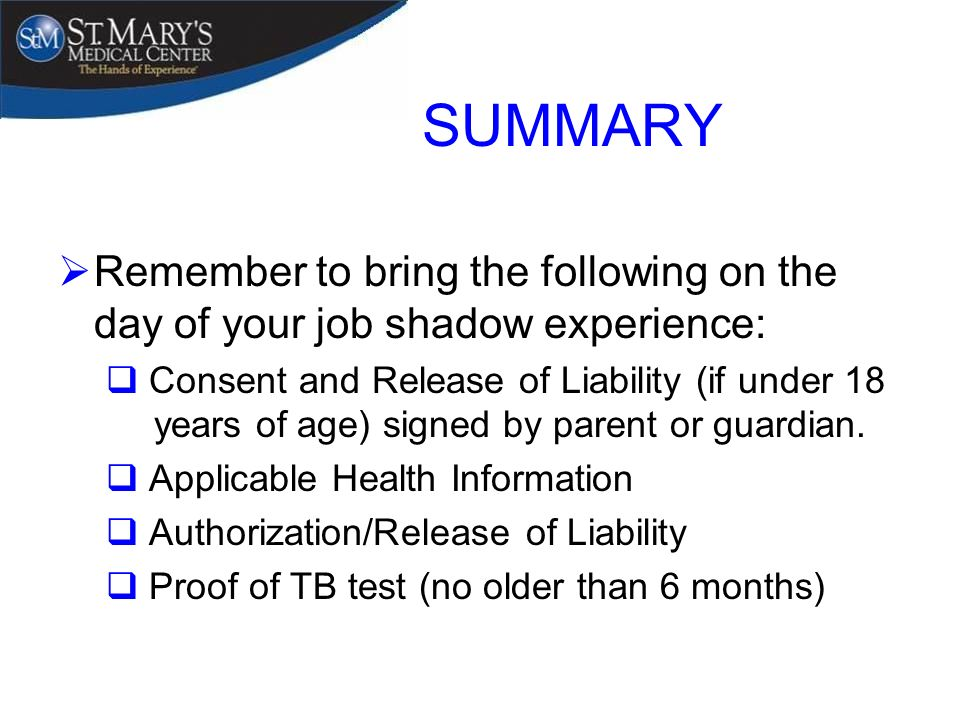 shadowing experience