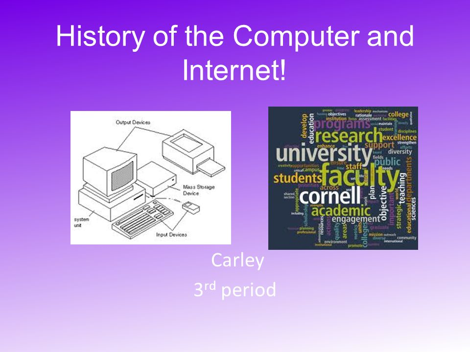 short essay about history of computer A brief computer history the computer as we know it today had its beginning with a 19th century english mathematics professor name charles babbage he designed the analytical engine and it was this design that the basic framework of the computers of today are based on.