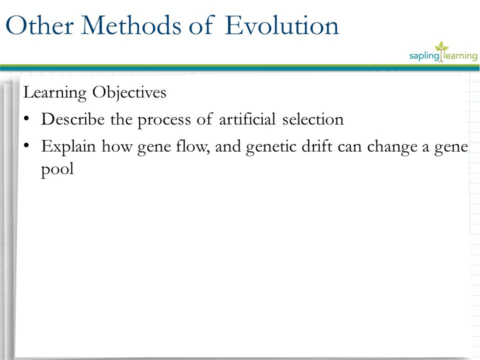 The procedures of genetic selection and genetic intervention