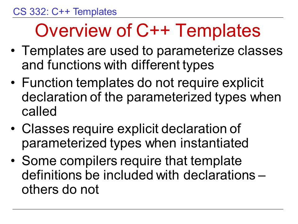 overview of c++ templates - ppt video online download, Presentation templates