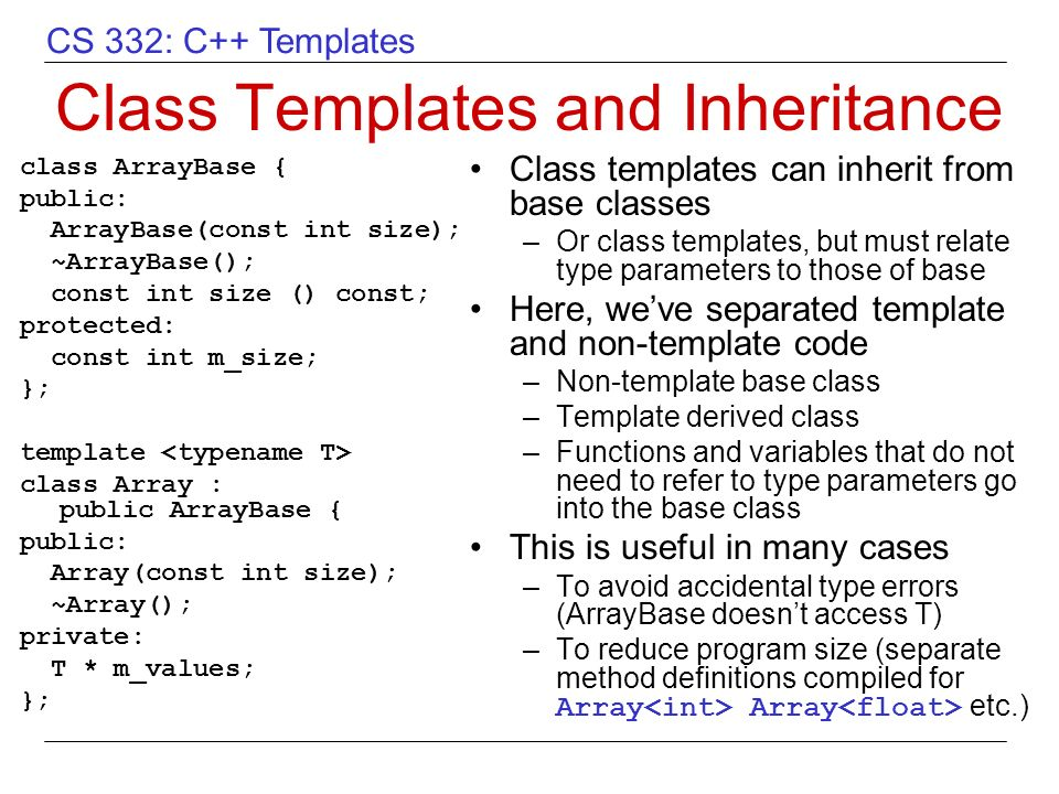 Overview of C++ Templates - ppt video online download